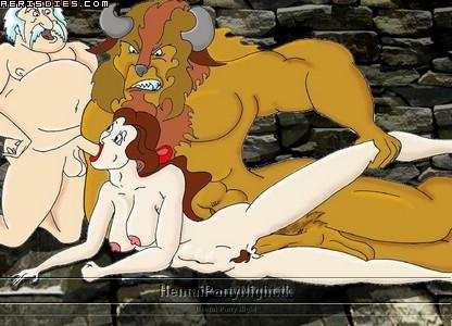 beauty triplets the and beast Chi-chi dragon ball