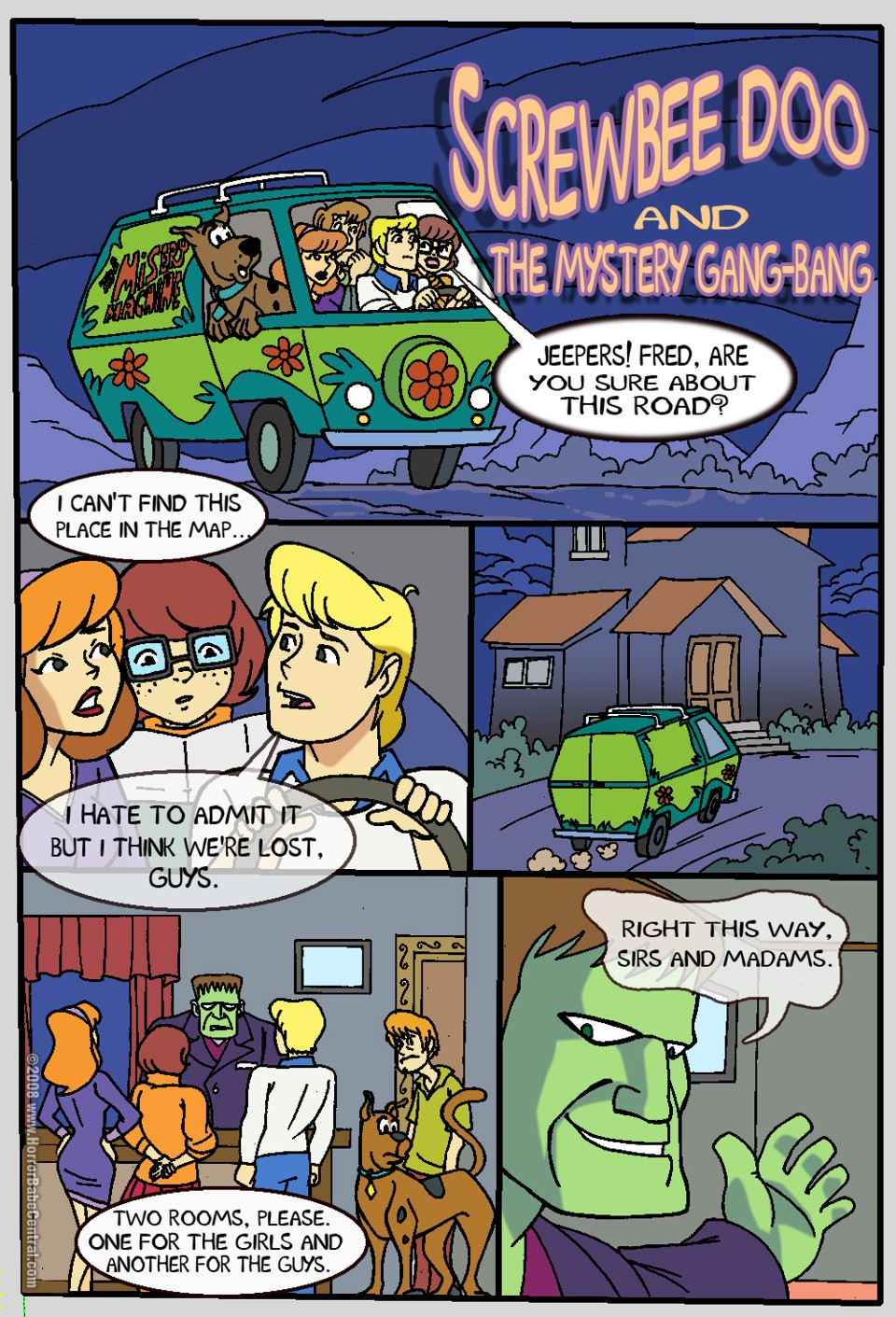 brothers scooby boo doo meets Gravity falls comic