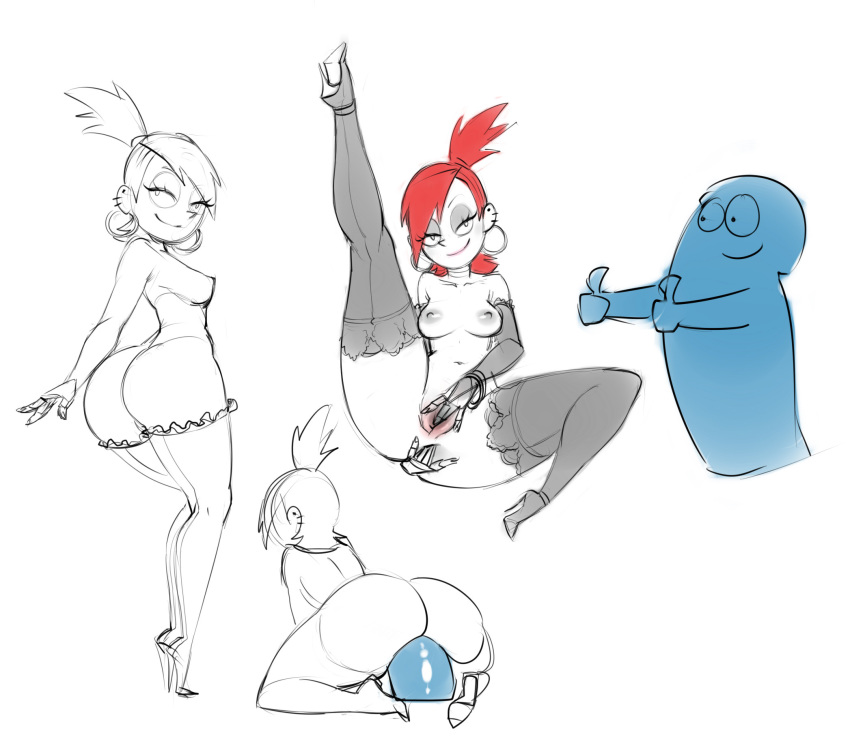 frankie naked for fosters home friends imaginary Pixie bob my hero academia