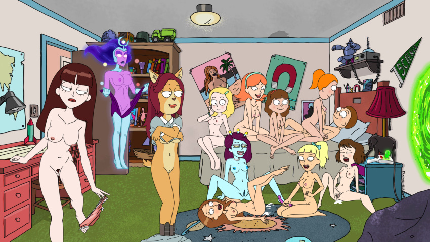 rick jessica morty naked and One punch man tornado xxx